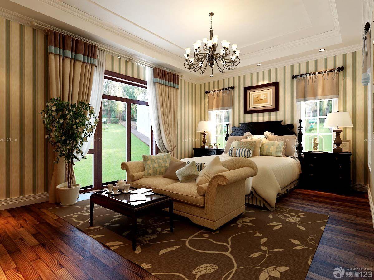 小复式楼美式卧室装修效果图