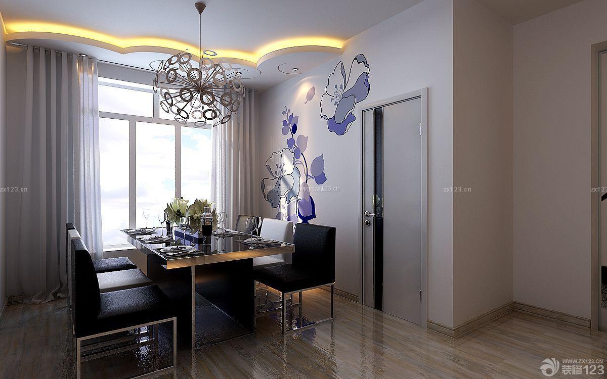 现代风格家装餐厅仿木地板瓷砖设计图片