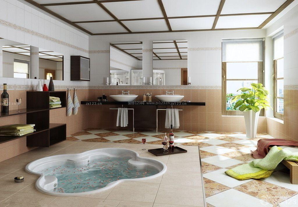 2014现代风格小洋房家庭浴室装修效果图片