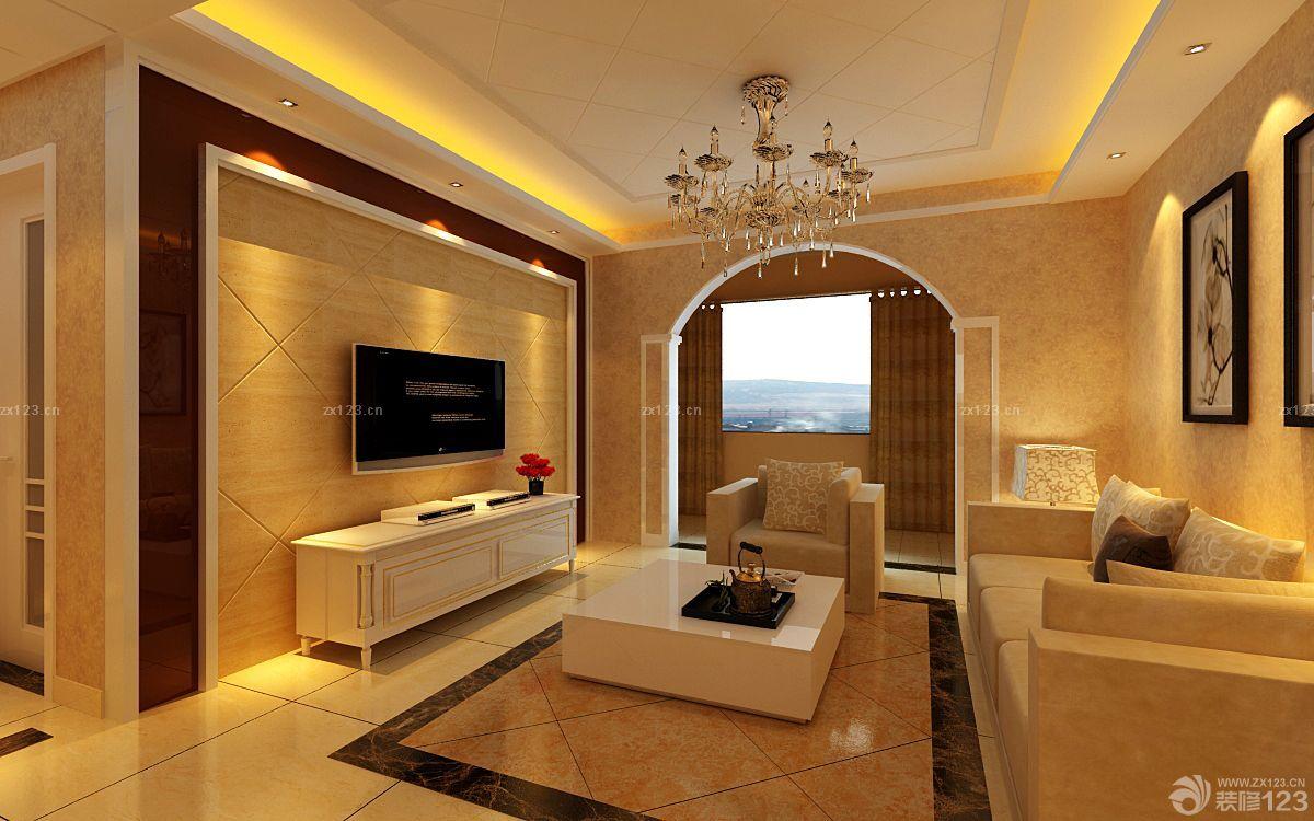 80平米家居客廳到陽臺門洞設計圖片欣賞