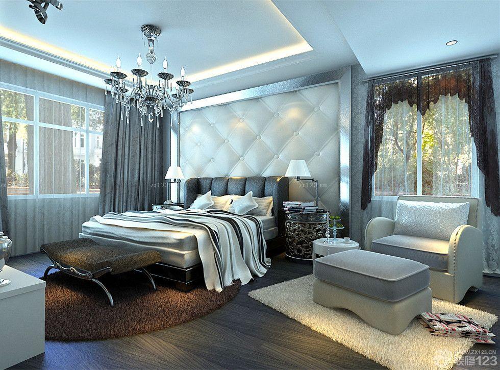 后现代风格小洋房卧室天花板设计实景图_装修123效果图图片