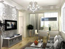 交換空間50平小戶型室內裝修玻璃隔斷圖片