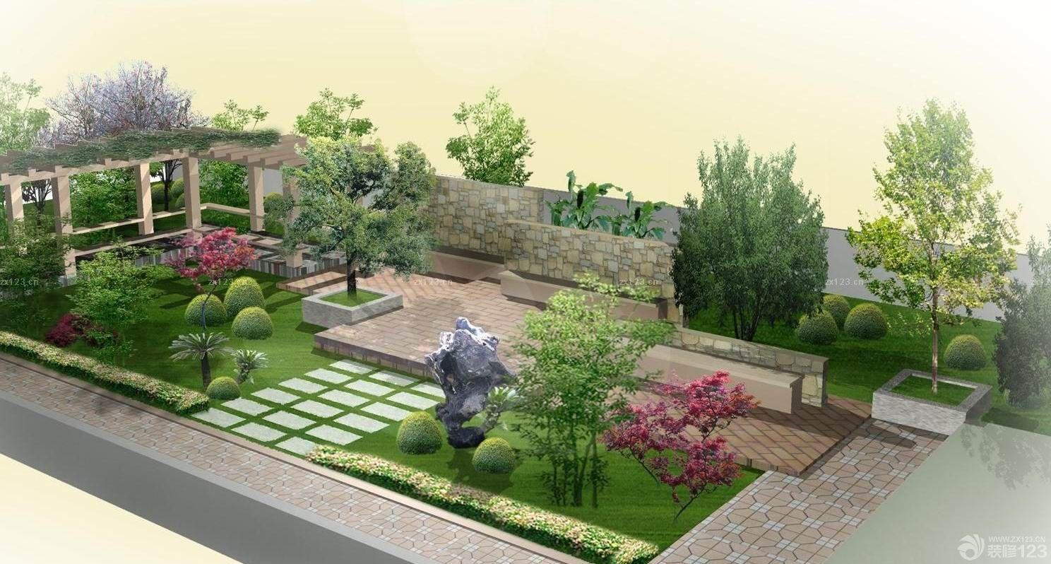 别墅屋顶花园设计效果图大全