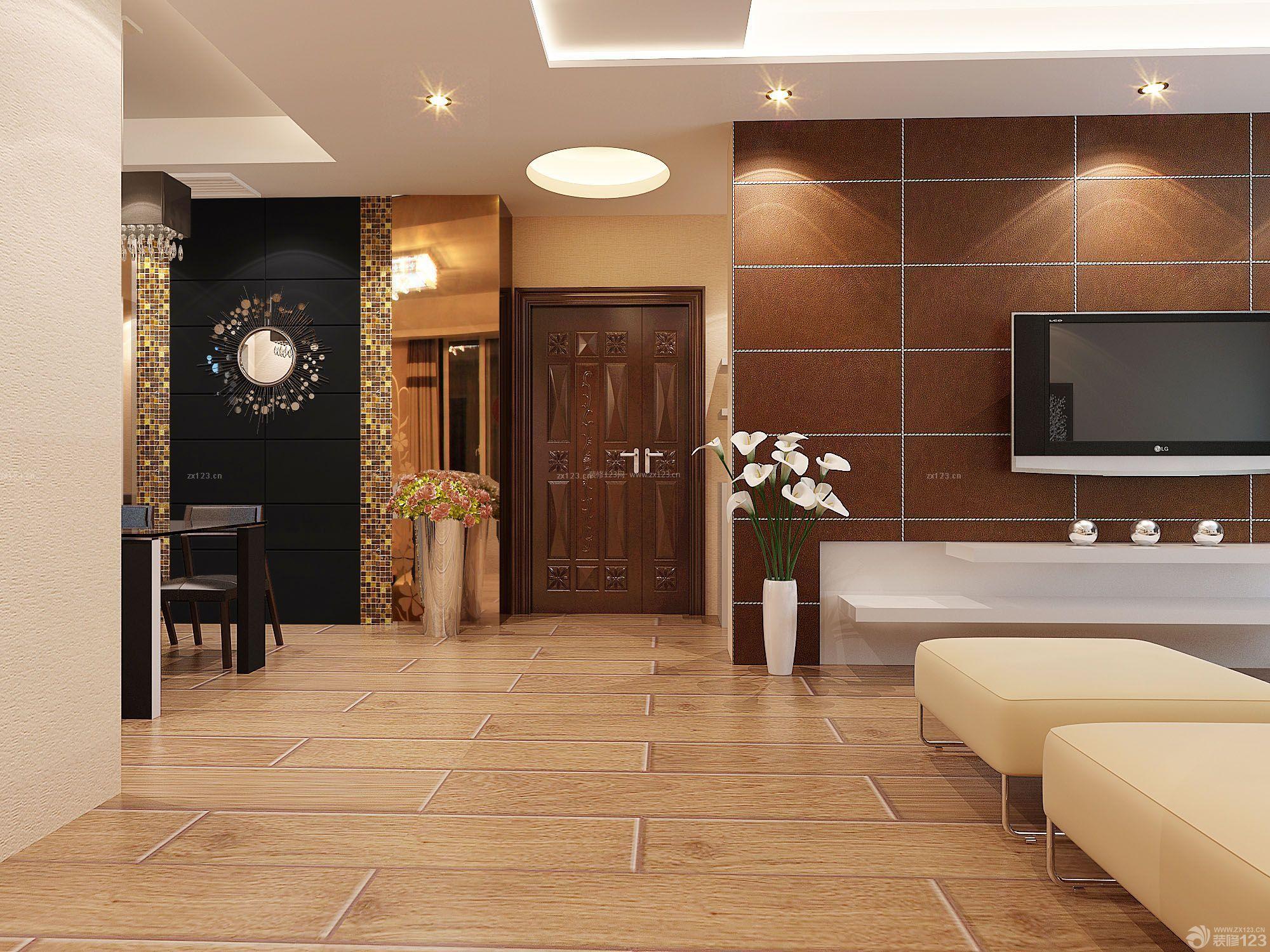 现代设计风格客厅地砖装修效果图大全