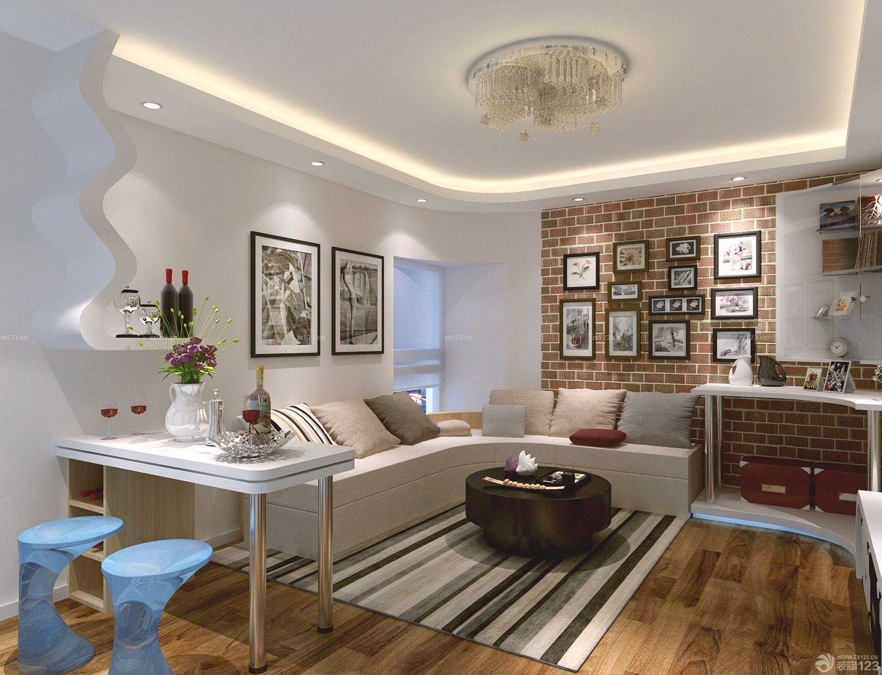 家装效果图 客厅 65平米两室一厅小客厅装修效果图 提供者