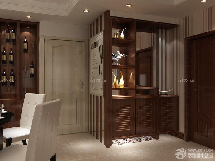 家装效果图 玄关 进门玄关实木家具玄关柜装修图