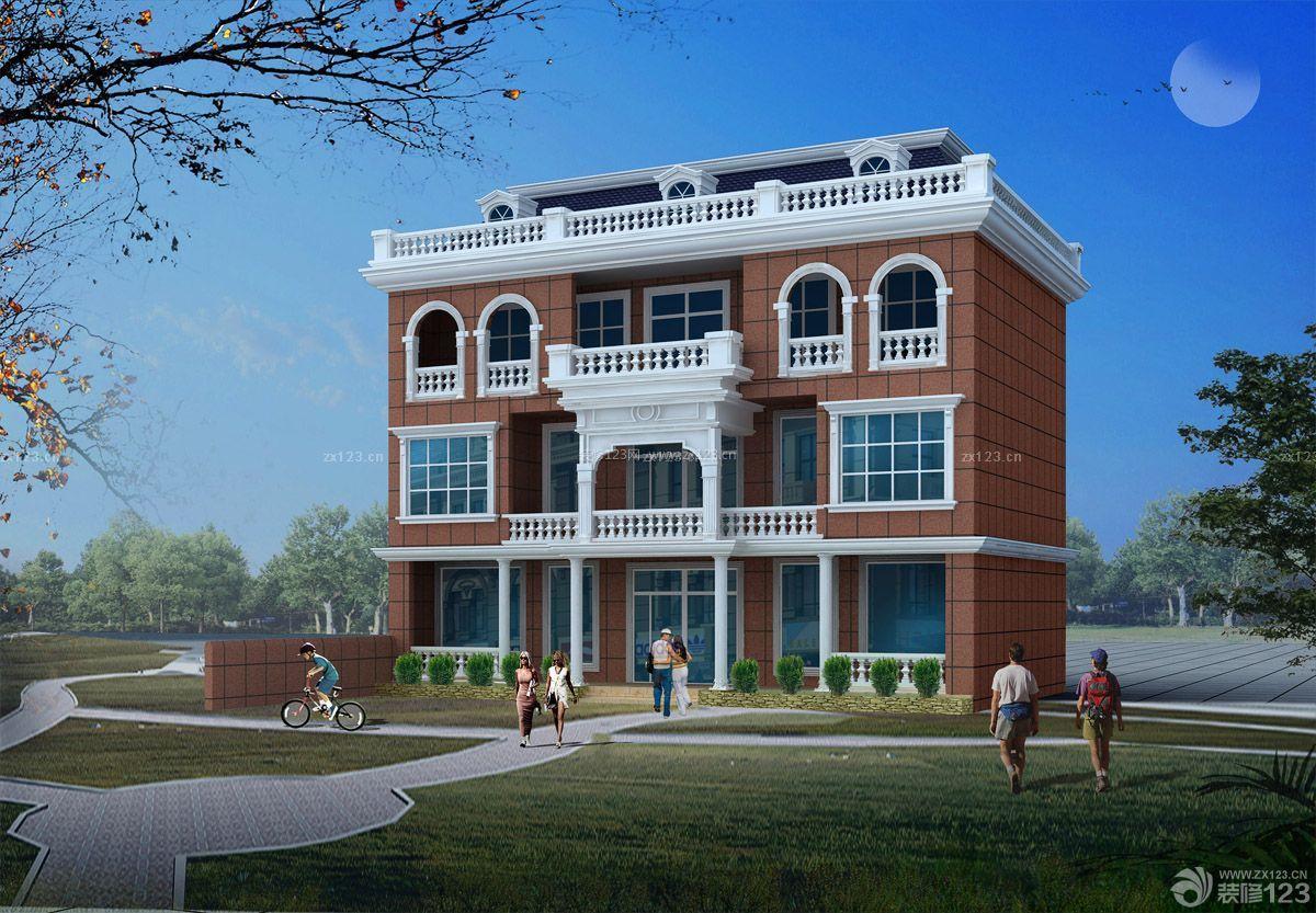 最新三层自建房屋外观设计效果图欣赏_装修1