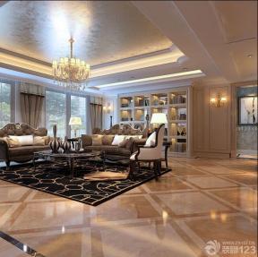 歐式室內裝潢 客廳裝修風格 室內吊燈