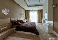 大臥室雙人床背景墻設計圖