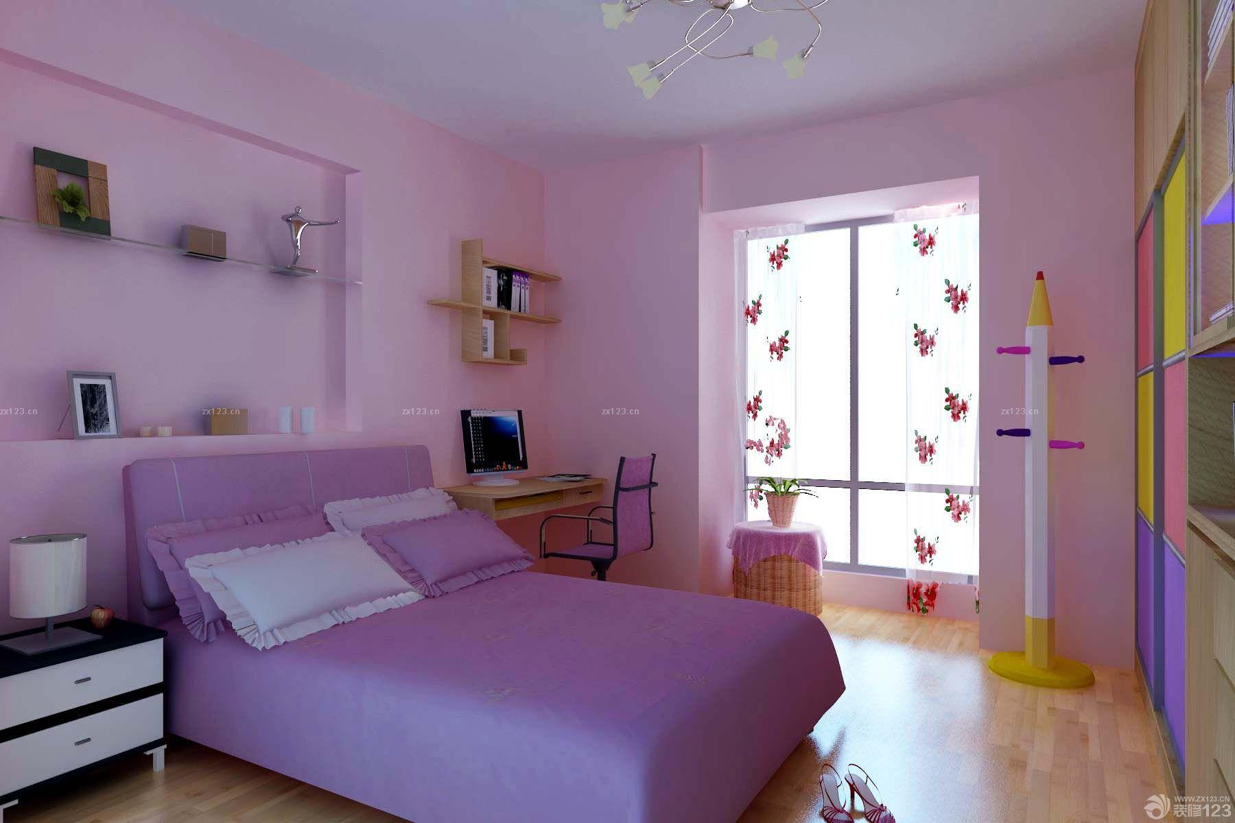 女孩卧室房间装修效果设计图