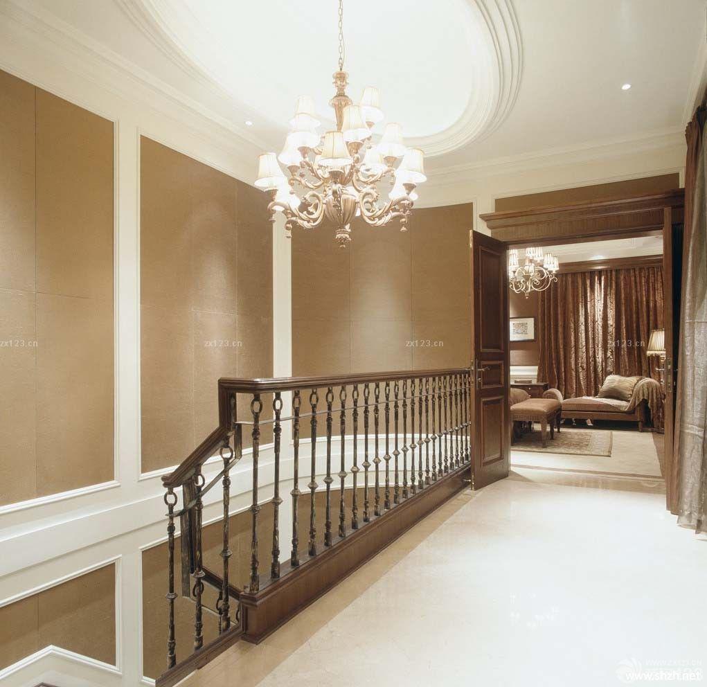 后现代风格室内铁艺楼梯扶手设计实景图图片