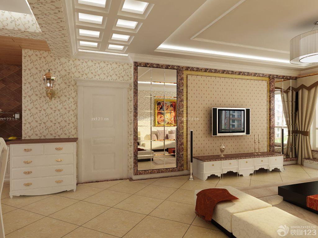 混搭风格家居客厅门口设计实景图