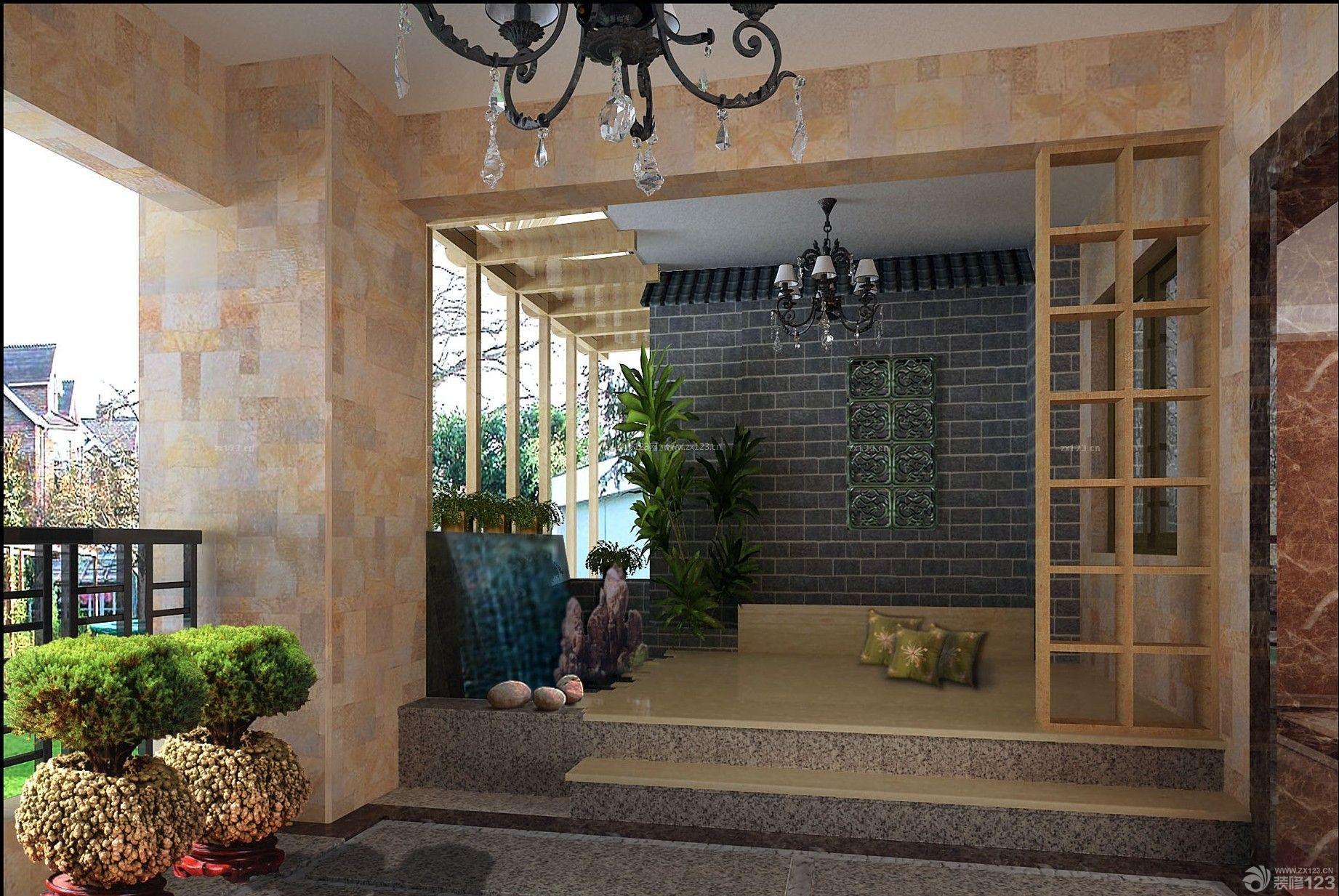 2014最新室内入户花园阳台门洞造型设计图片