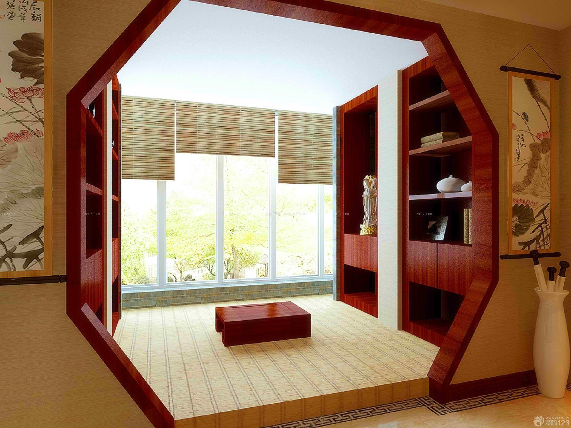 日式风格书房榻榻米装饰图片