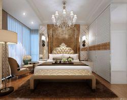 歐式室內裝潢主臥室床頭背景墻圖大全