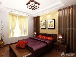 中式家具擺放大臥室雙人床圖片