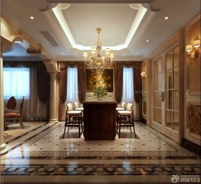 別墅裝修效果圖大全 室內吧臺吧椅