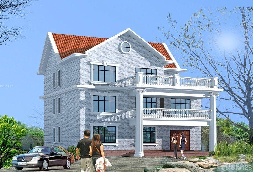 大门自建房厂家庭院三层瓷砖别墅外观别墅农村做什么外墙图片
