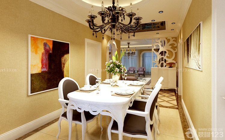 简约欧式风格家庭餐厅图片大全