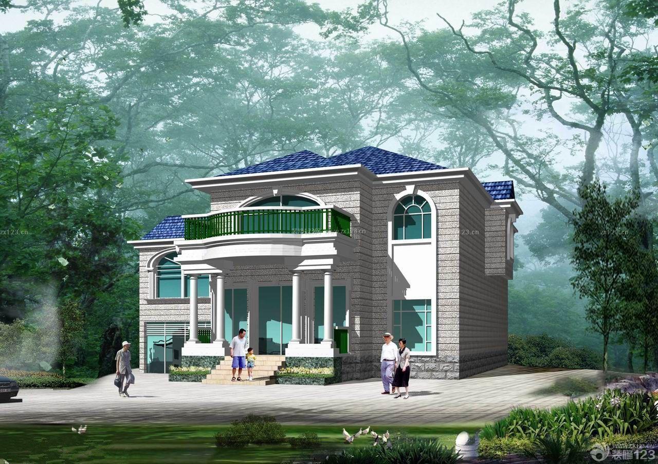 2014最新农村自建别墅外观设计效果图
