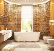 创意个性浴室装修马赛克效果图