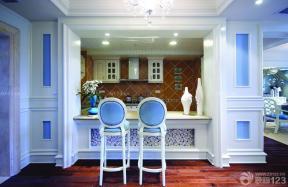 地中海家裝效果圖 廚房帶吧臺 吧椅