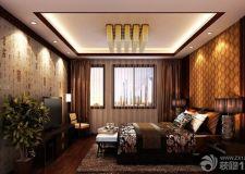 不同材料不同卧室背景墙效果图