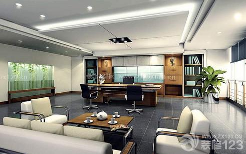 嘉定区现代设计风格 老板办公室 休闲区布置 100平米现代风格