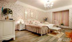 三室兩廳臥室裝修設計花紋壁紙圖