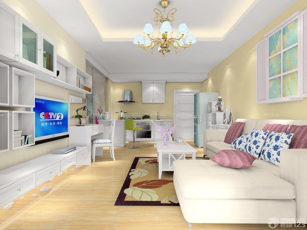 40平公寓装修效果图 客厅电视组合柜
