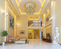奢華歐式風格別墅客廳裝修效果圖大全