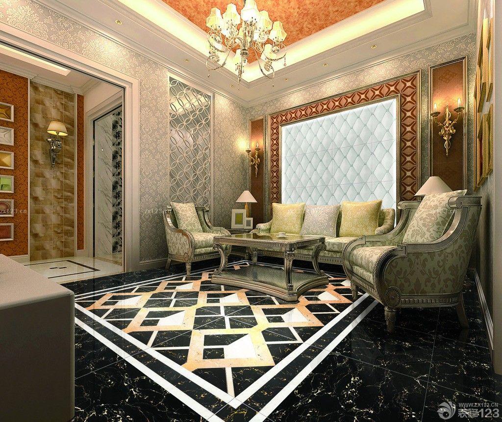2014最新客厅瓷砖拼花图片设计