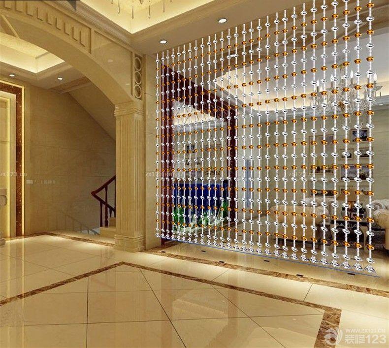欧式风格室内水晶门帘设计图片