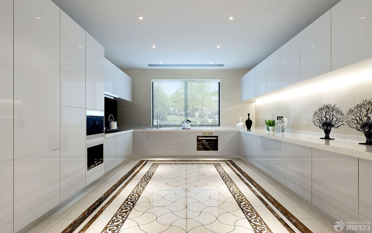 2014经典家装客厅地面瓷砖拼花设计效果图