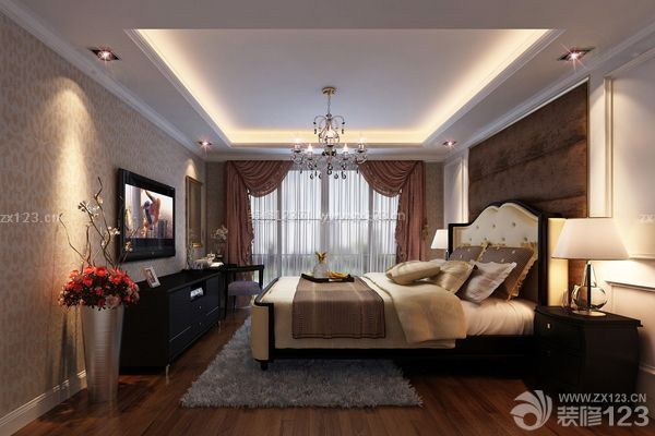 主卧室设计效果图:吊顶-主卧室设计效果图 舒适家居的打造