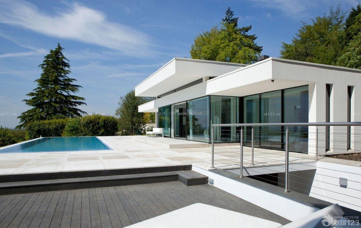 现代风格180平米别墅外观设计效果图