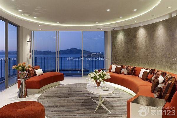 欧式客厅设计元素三,布艺沙发英伦风