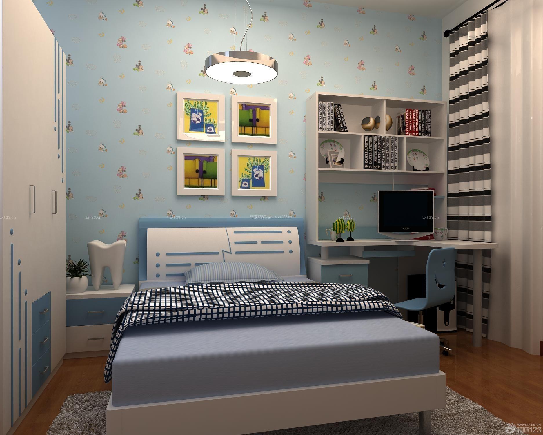 背景墙 房间 家居 起居室 设计 书房 卧室 卧室装修 现代 装修 1873
