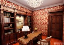 书房壁纸图片 搭配出静谧书房