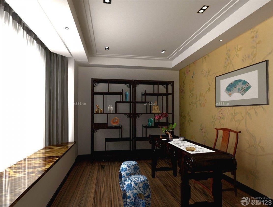 新中式风格最新客厅贵妃榻地毯装修图欣赏
