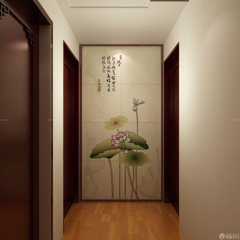 2014最新家装玄关瓷砖拼花设计图片