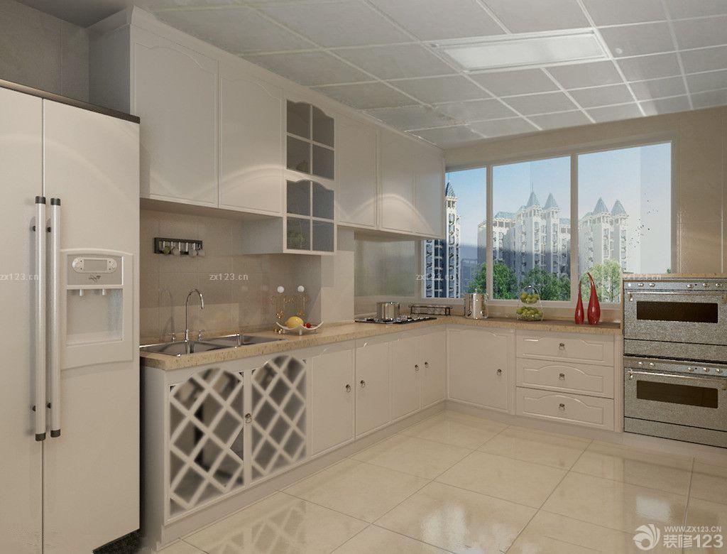 欧式厨房吊顶铝扣板效果图
