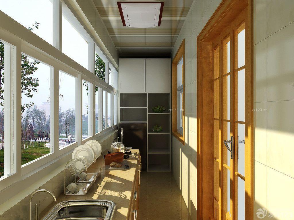 温馨风格厨房铝扣天花板效果图片