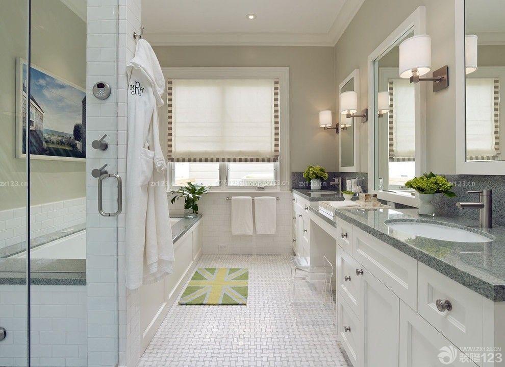 北欧风格家装浴室瓷砖装修实景图图片