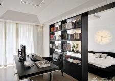 书房与卧室用书柜隔断 独立工作空间立显