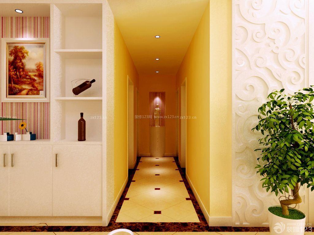 现代风格家装玄关瓷砖拼花设计效果图展示