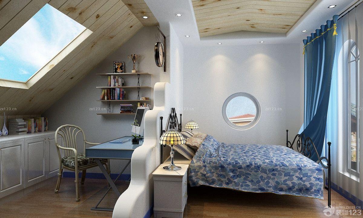 地中海风格小户型阁楼装饰设计效果图图片