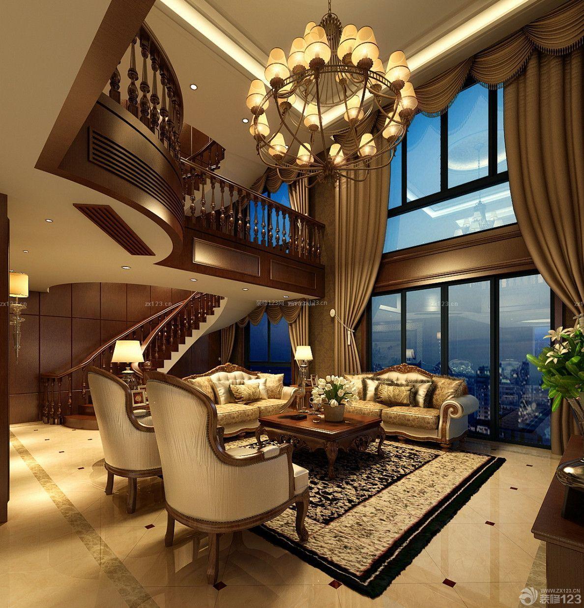 吴忠美式风格260平米设计方案 黄甜