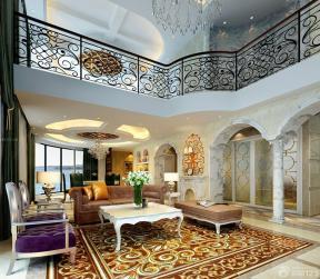 復式住宅裝修效果圖 歐式室內裝潢 挑高客廳裝修效果圖