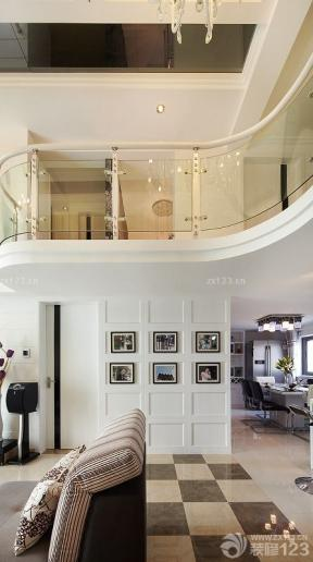復式住宅裝修效果圖 挑高客廳裝修效果圖 背景墻裝飾